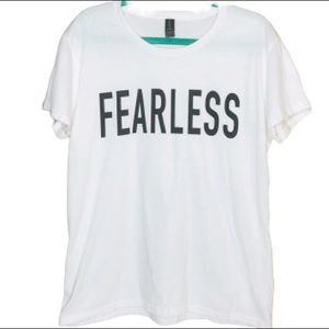 ANVIL Women's T-shirt FEARLESS white size XL